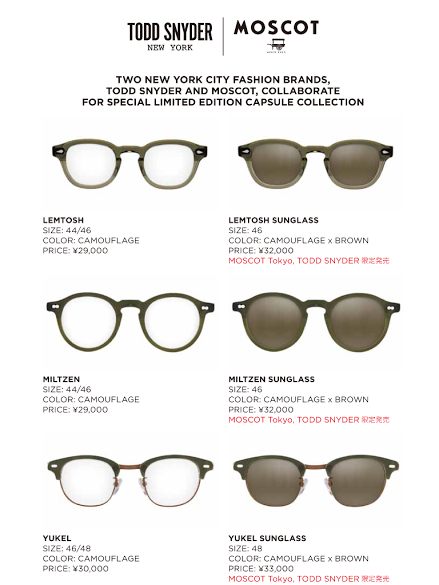 1bb52e2b6949 Collaborate with 「MOSCOT」 |トピックス| | TSI HOLDINGS